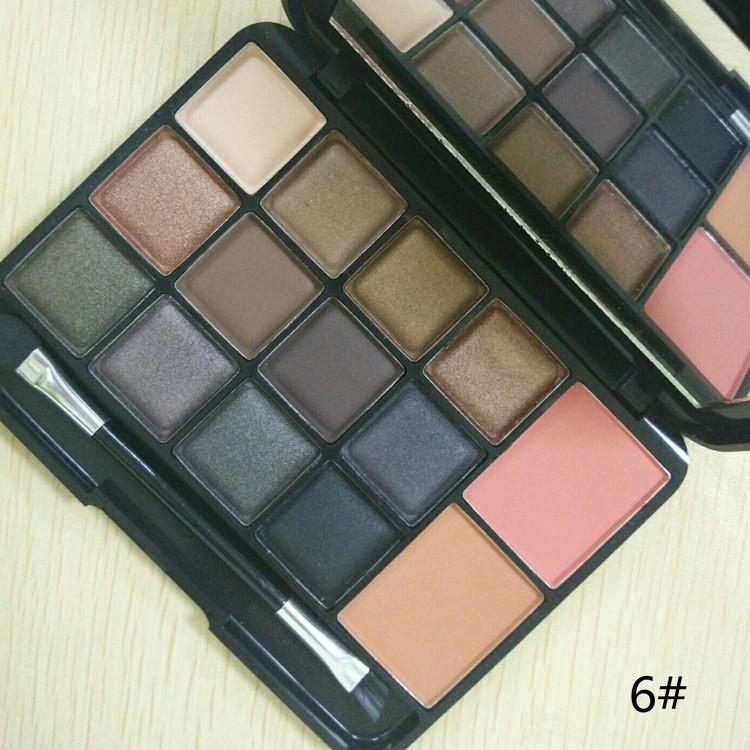 Nouvelle vente chaude huda beauté fard à paupières palette avec blush