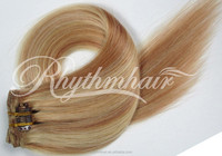 Mixed Color Clip in Human hair extension.100 human hair.Brazilian hair extension