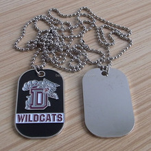 metal rectangle wild gats dog tags custom, ball chain necklace dog tags wholesale