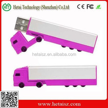Promotion plastic truck shape usb stick 2gb usb flash drive memory disk