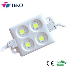 SMD5050 LED module with IP65 wateproof and 4 pcs of SMD5050 LEDs and DC12V, white color, size: 55*33mm, ABS plastic injection