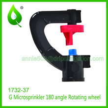 G Style Irrigation plastic micro sprinkler drip irrigaiton 1732-1737 micro wheel Farm Garden fitting tool watering sprinkler