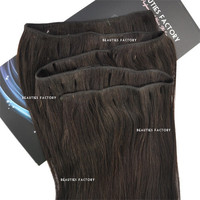 """Beauties Factory 20"""" Straight Remy Human Hair Extensions Weft 100g #1B Natural Black"""