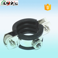 galvanized rubber steel compression pipe clamp