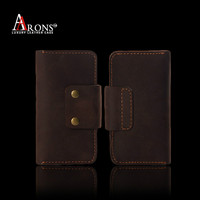 Genuine wallet leather phone cover book case for iphone 5