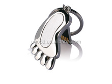 Feet shaped mini usb memory stick,High speed low price usb flash drive,metal usb disk with key chain