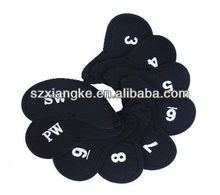9 X Neoprene Golf Iron Head Cover