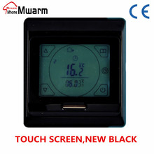 black color touch screen 3A 220V CE M9.716 LCD digital thermostat