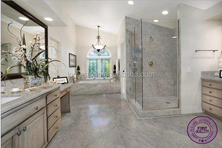 Badkamertegels marmer badkamer decoratie afgeschuinde metro tegel zonnige wit en grijs - Tegel grijs antraciet gepolijst ...