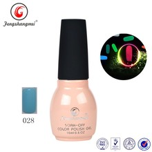 QL028 fengshangmei soak off gel polish glow in the dark uv nail gel