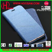 bulk leather flip wallet case for iphone 6 plus