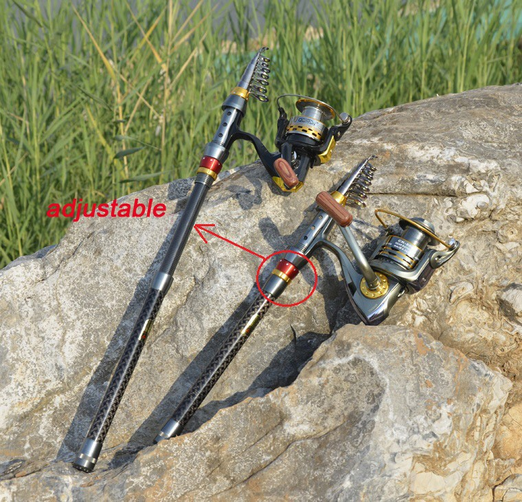 2014 new Carbon sea rod superhard Telescopic Fishing Rod Carbon 1.8-3.6M fishing Rod Spinning free shipping1116