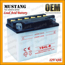Fast Charging Rate 12V 4Ah Lead Acid Batteries for Motorcycle YB-4L-B Batteries