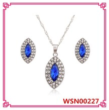 2015 New Band Designer Crystal Necklace Set Wedding Pendant Necklace 4 Colours