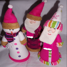 Christmas, Tree Topper, Table, Santa Clause, King, or Snowman, Hot Pink, Purple, Xmas Novelty Tree Topper