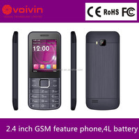 Large capacity gsm feature phone supplier,2.4 inch cheap rugged gsm feature phone made in china