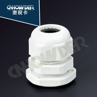 M12 plastic watertight cable gland witn 16mm spanner size