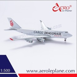 Diecast 1:500 Boeing B747 Dragonair Cargo Airlines Souvenir Decorative Replica Aeroplane Airplane Gift Metal Aircraft Model