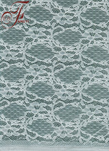 New Fashion Design Thin White Flower Elastic Cord Lace Fabric Polyamide And Spandex Fabric