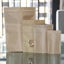 Custom color printing window kraft paper bag greaseproof for peanut