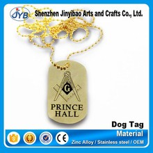 gold plated brand logo metal accessory chain hang tag for wholesale