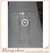 High quality organic glass church pulpit/luxury rostrum/podium designs