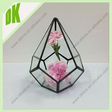 / Shipping costs can vary greatly depending on your location / Hand cut geometric glass vase factory