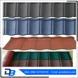 types of color stone coated steel roofing tile
