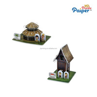 3d effect house model jigsaw puzzle ideal toys direct