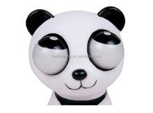 Custom vinyl eye pop squeeze toys,Reduced pressure making eyes pop out squeeze toys vinyl,Lifelike vinyl doll panda toys