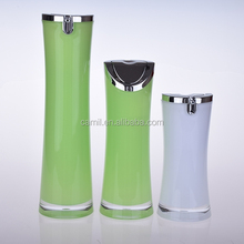 eco-friendly elegant double wall 30ml airless bottle acrylic