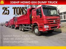 Man Diesel Engine HOWO 371hp 6x4 tipper truck for Rwanda