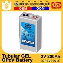 Yemen Best Batteries 2V 200 amp Tubular GEL Battery use on Solar Water Pumps for Wells