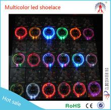 color changing shoe laces led/light up led shoelace/led shoelaces flashing