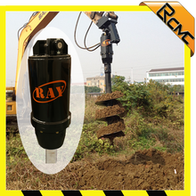 double pin crandle hitch auger drill for bucket excavator
