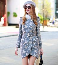 dabuwawa 2014 europeo de la moda abrigos de invierno de piel de conejo capa