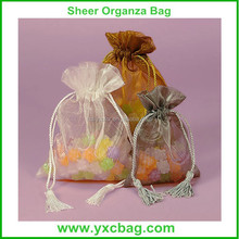 Organza Candy Bags Wedding Organza Gift Bags with Tassel