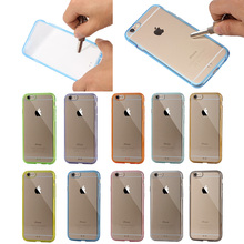 Clear PC +TPU Cover for iphone 6 plus, Back Case Cover Skin for iPhone 6 Plus, Crystal Acrylic Case for iphone 6 5.5