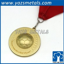 high quality custom casting gold plating medal, enamel medal with ribbon