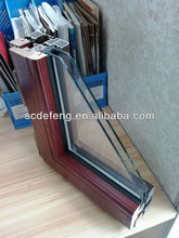 Aluminum -Wood Composite Window Profile with 5+9A+5 Glass