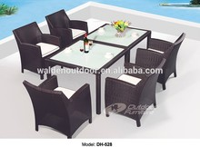 rattan moderna sala de jantar conjunto