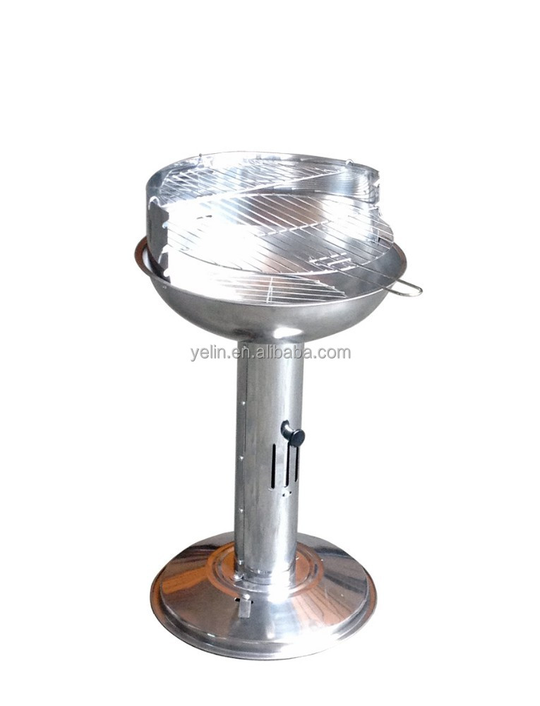 Pedestal Charcoal Grills : Yl hbs stainless steel pedestal bbq grill buy