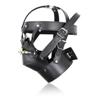 sexy latex hoods with hasps sex latex mask black mask