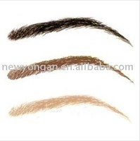 different color human hair hand tied lace eyebrow