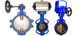 Pneumatic Actuated Wafer Butterfly Valve Easily Operated ,From Chinese Factory