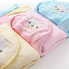 EAswet Custom Kids Embroidery Flannel fleece Swaddle Baby Blanket