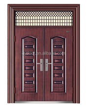 New villa entrance door for the house main entrance as the exterior door in rion with long lasting paint skin in teak