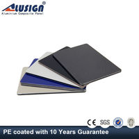 Alusign best price aluminium composite panel for kitchen cabinets facade panel