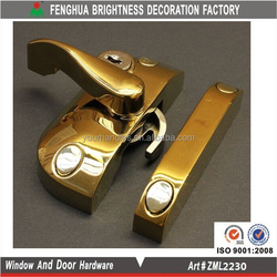 Europe PVD zamac lockable window lock with keeper cam sash lock