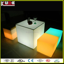 Wholesale Bar Decoration Used Outdoor Magic 3D LED Cube/LED Cube Table/LED Cube Stool Chair For LED Furniture Lighting